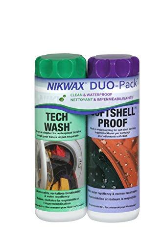 Nikwax Softshell Cleaning & Waterproofing Duo-Pack , 20 oz. / 600ml