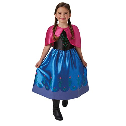 Frozen - Disfraz de Anna classic para niña, infantil talla 5-6 años (Rubie