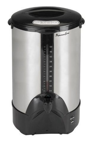 Continental Electric PS77961 Pro Series 100-Cup Stainless Steel Double Walled Coffee Urn