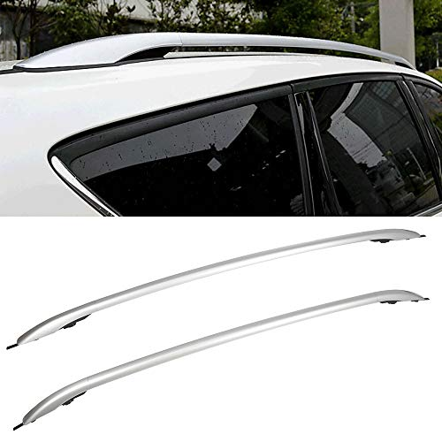 OCPTY Roof Rack Roof Side Rails Silver Cargo Carrier Top Side Rails Fit For Ford Escape Sport Utility 2013-2016 Roof Side Rails