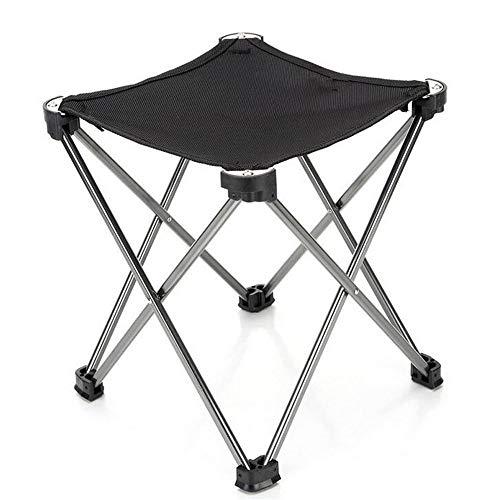 XAJGW Tabouret de Camping Chaise Pliante Regatta Tabourets pliants légers Repliez Tabouret De Pêche Idéal Portable Chaise de Voyage pour Camping Randonnée (Couleur : Noir)