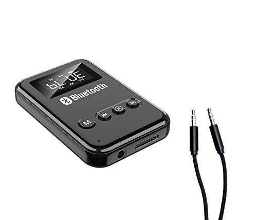 Bluetooth 5.0 transmitter and receiver, 4-in-1 wireless bluetooth adapter...