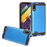 CELZEN - for LG K22, K32, K22+ Plus (LM-K200) - Brushed Style Phone Case - CS3 Black/Blue