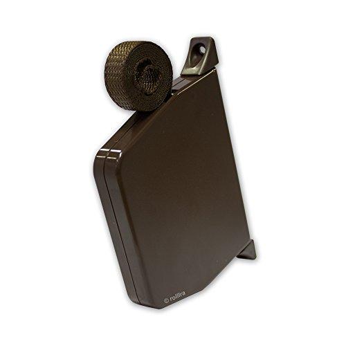 Rolladen Gurtwickler Aufputz braun schwenkbar und Gurtband 14mm Gurtbreite in braun für Rollladen [Bra418]