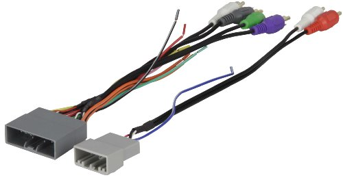 Scosche HA13B Compatible with 2006-11 Honda Civic Amplified System Wire Harness/Connectors; 4CH RCA w/Sub Amp Input Wire Harness/Connector, Non-Navigation