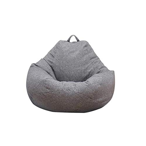 mickyshoes Bean Bag Sofa Chair | Classic Lazy Lounger Bean Bag Storage Chair for Adults and Kids for Home Garden Lounge Living Room Indoor Outdoor (Dark Gray 21.55'' X 31.49'')