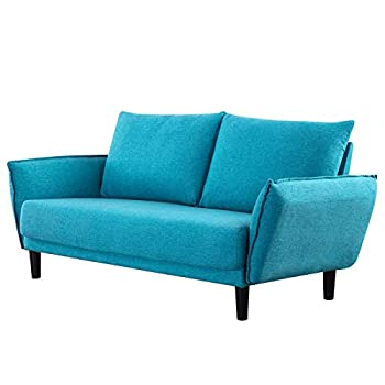 AINN 70 Inch Sofa Loveseat for 2 People Love Couch for Bedroom Loveseat Sofa Couch for Living Room Stone and Beam Sofa with Armrests Blue Wide Seat Sofa  Type-A Blue