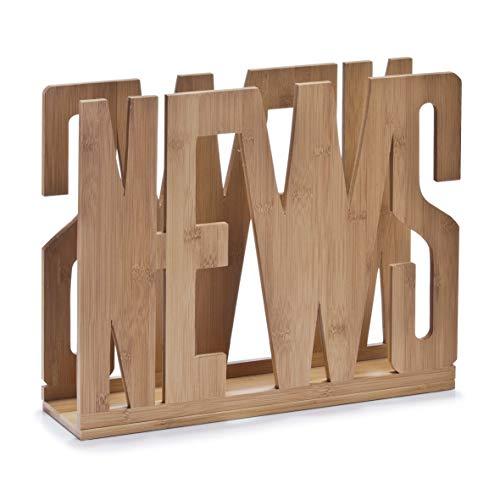 Zeller 13577 Magazinständer News, Bamboo/42 x 11 x 33