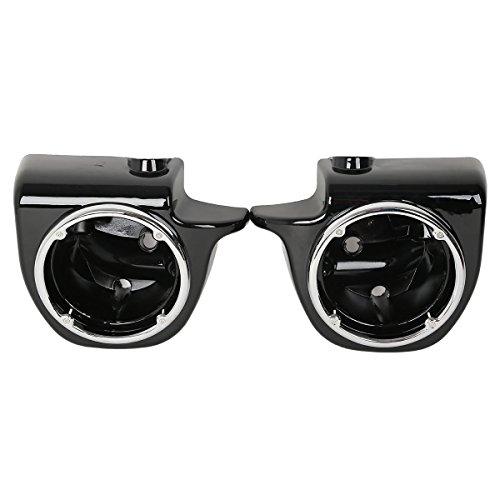 XFMT Vivid Black 6.5' Speaker Pod Lower Vented Fairing Fit Touring Models FLT,FLHT,FLHTCU,FLHRC,Road King,Street Glide,Electra Glide,Ultra-Classic beCompatible Withe 2013