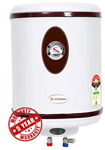LONGWAY® HOT Plus 25 LTR 5 Star Storage Water Geyser WT AVS Technology, Temperature Meter, Stainless Steel Body, HD ISI...