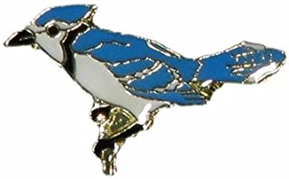 _. Blue Jay Wildlife Small Metal Lapel Pin Badge 1 X 1/2 Inches New