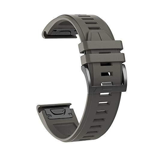 YOOSIDE Fenix 5X Plus Watch Strap 26mm Quick Fit Silicone Sport Waterproof Replacement Watch Band Strap for Garmin Fenix 5X5X Plus D2 CharlieFenix33 HRQuatix 3Tactix Bravo Green