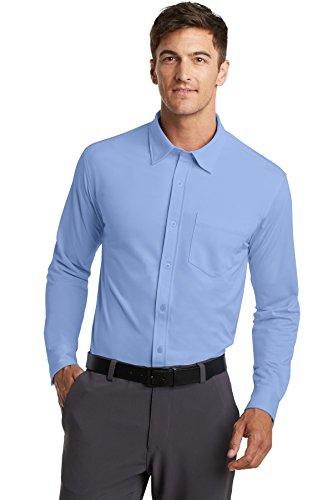 Camisa social masculina Port Authority, Dress Shirt Blue, 3XL