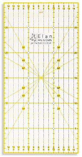 Elan Regla Patchwork 30 x 15 cm Antideslizante, Reglas de
