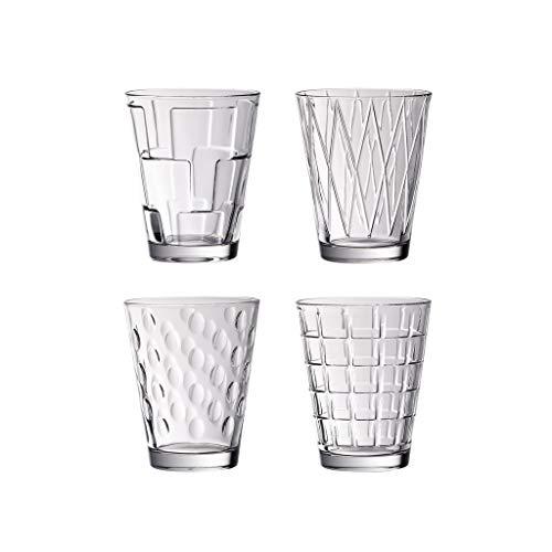 Villeroy & Boch Dressed Up Bicchieri per Acqua, Set da 4, 310 ml, Cristallo, Trasparente