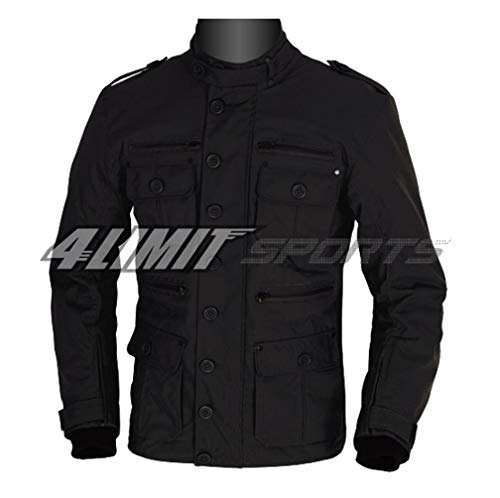 4LIMIT Sports Motorradjacke GENTLEMAN Outdoor Textil Jacke schwarz