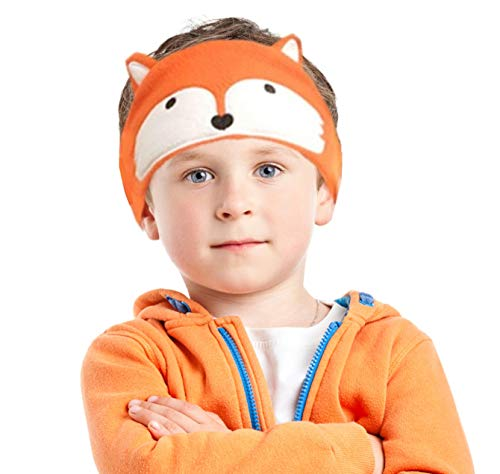 Charlxee Kids Headphones Children Girls Boys Teens Volume Limiting Foldable and Durable Headphone Headband for School, Home and Trave -Orange Fox