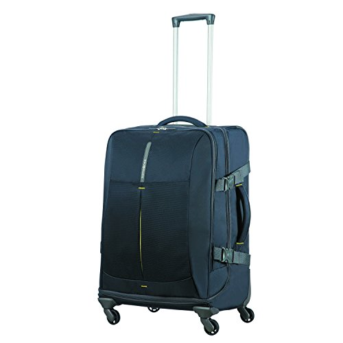 SAMSONITE 4mation - Spinner Duffle Bag 67/24 reistas, 67 cm, 82.5 L, Midnight Blue/Yellow
