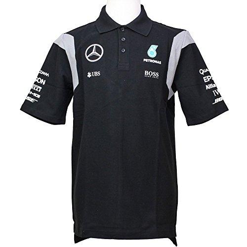 MERCEDES AMG PETRONAS Herren Mercedes AMG Team Polo 2016 Black, XL Poloshirt, schwarz