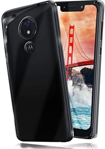 moex Aero Hülle kompatibel mit Motorola Moto G7 Play - Hülle aus Silikon, komplett transparent, Klarsicht Handy Schutzhülle Ultra dünn, Handyhülle durchsichtig einfarbig, Klar