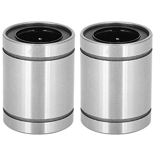 2-Pack LM20UU Linear Ball Bearings, GCr15 Bearing Steel, 20mm Bore Dia - 32mm OD, 42mm Length Sealed Bushing for 20 mm Rod 3D Printer CNC Parts