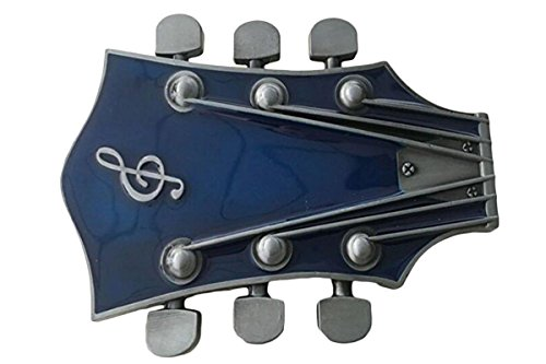 Bai You Mei Adulto Guitarra Unisex Music Headstock Hebillas De Cinturón, W...