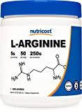 Nutricost L-Arginine (250 Grams) - Pure L-Arginine Powder - 5000mg Per Serving; 50 Servings