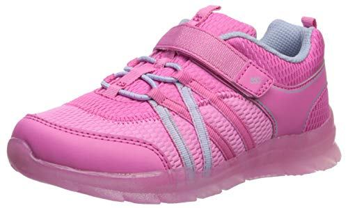 Stride Rite 360 Boys' Stride Rite Rocky Girl's Washable Light-Up Sneaker, Pink, 8.5 M US Toddler