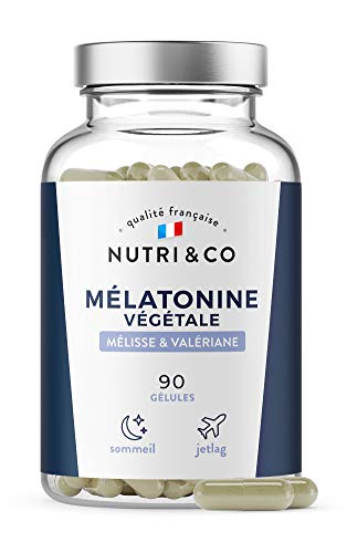 Mélatonine Végétale Valériane et Mélisse BIO | 90 Gélules | 0,6 1,2 ou 1,9mg | Complexe Sommeil et Humeur | Endormissement Rapide | Alternative Naturelle au Somnifère | Vegan Made in France | Nutri&Co