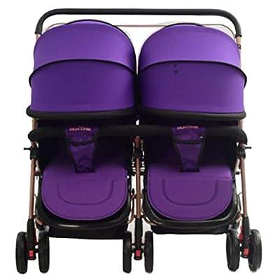 Cochecito Doble Para BebéS La RealizacióN Bidireccional Se Puede Sentar Reclinable Carro De Luz Plegable Cochecito Doble Para BebéS Cochecito Para BebéS Carro Para BebéS AbsorcióN De Impactos De Res