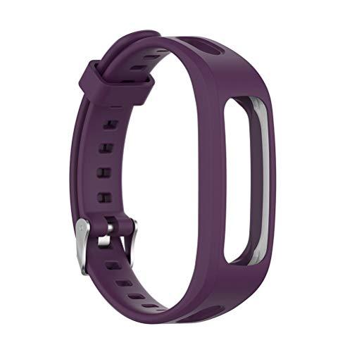 Pulsera deportiva de silicona para Huawei Band 3e 4e Huawei Honor Band 4, versión de carrera, reemplaza la correa de silicona, unisex, correa de silicona, resistente al agua y al sudor (purple)