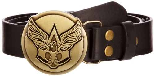 Assassin's Creed IV Black Flag Herren Golden Wings Logo Buckled Gürtel, Nero (Black), 44 cm