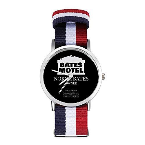 Psycho Norman Bates Motel Owner Visitenkarte Freizeit Armband Uhren Geflochtene Uhr mit Skala