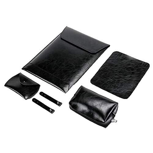 """GELing Funda de Cuero Sintético para portátiles de 13-13.3 Pulgadas MacBook Air/MacBook Pro/Pro Retina/Notebook/Laptop,Traje Negro 3,11"""" (31.6X20.5 cm)"""