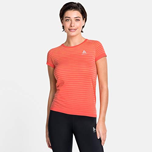 Odlo T-Shirt Blackcomb Pro Crew pour Femme M Corail