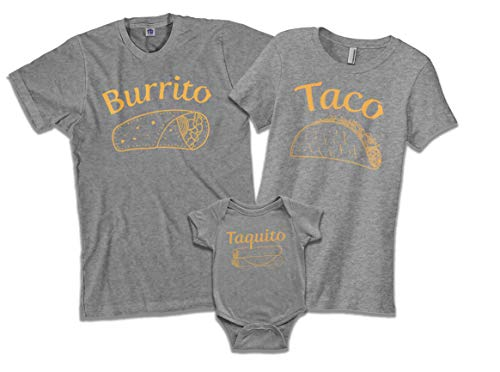 Threadrock Taquito | Baby Son or Daughter Infant Bodysuit | 6 Months, Sport Gray