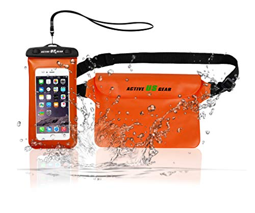 Waterproof IPX8 Certified Pouch with Waist Strap and phone case for Smartphone Galaxy S10 S10e S9 S8 Plus/S6/Note 8 6 5 4,iPhone Xs Max XR Xs X 8 7 6S Plus Pixel 3 XL/3 Sony Motorola,HTC LG Nokia