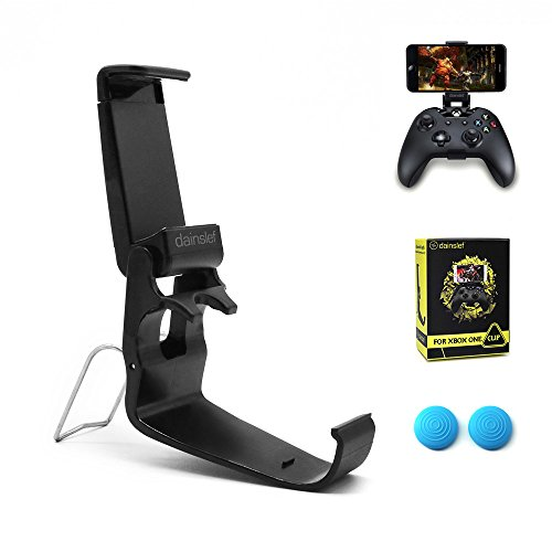 Dainslef Xbox/Xbox One Controller Phone Mount, Xbox Controller Holder for Phones, Cellphone Clip, Foldable ClampFor Microsoft Xbox One/Xbox One S/Steelseries Nimbus Duo(Clip Only)