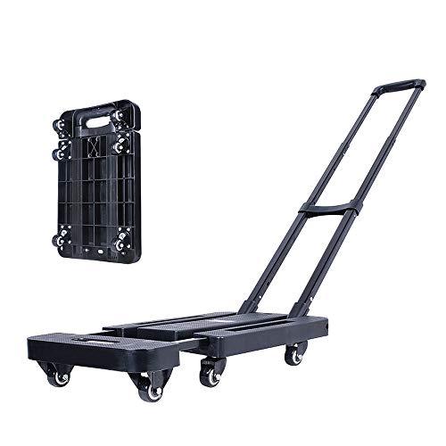 Yinleader Carretilla de mano plegable de 400 lbs/180 kg de capacidad, carrito...