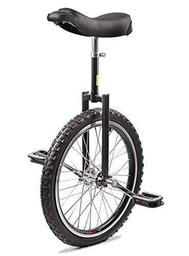 Wonepic Rad Einrad 20inch Junior Einrad High-Strength Manganstahl Gabel Adjustable Seat Aluminium-Legierung Schnalle, Anti-Rutsch-Wulstige Pedale Forged Crank Black-20inch