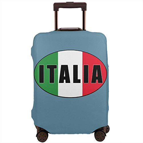 Italia Italië Italiaanse vlag Reizen koffer Protector Bagage Beschermende Wasbare Rits Bagage Cover