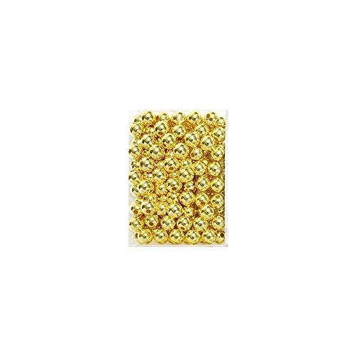 METALLIC - PERLEN mit Euro Lochung, Ø 10mm VE = 115 Stück Farbe: Gold