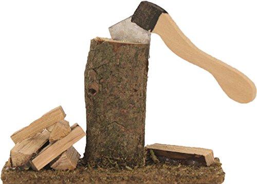 Preisvergleich Produktbild Dekop Miniatur Zubehör,  Hackstock mit Axt Höhe ca. 6cm (4444635095586)