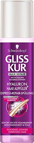 Gliss Kur Express-Repair-Spülung Hyaluron + Haar Auffüller, 6er Pack (6 x 200 ml)