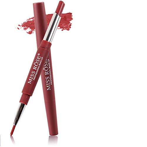 BHYDRY Miss Rose Doppelseitiger Dauerhafter Lipliner Wasserfester Lip Liner Stift 20 Farben