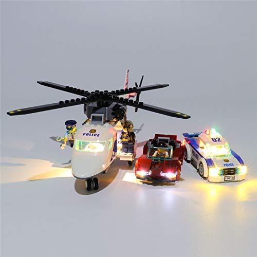 Teakpeak Licht-Set, Klassische Led Beleuchtungsset für Lego, Kompatibel Mit Lego City 60138 Polizei, Rasante Verfolgungsjagd Modell, Kein Lego Kit
