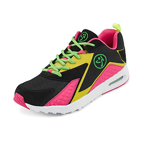 Zumba Athletic Air Classic Gym Fitness Sneakers Dance Workout Shoes for Women, Pink, 6.5