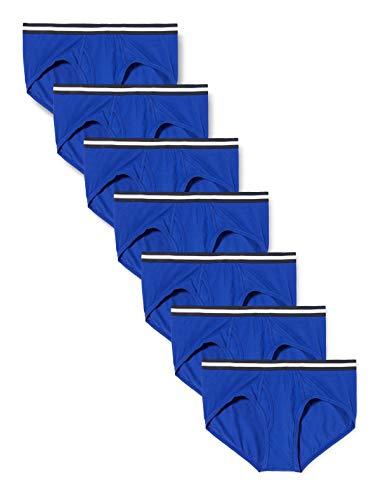 find. Slip in Cotone Uomo, Pacco da 7, Blue (Clematis Blue), M, Label: M
