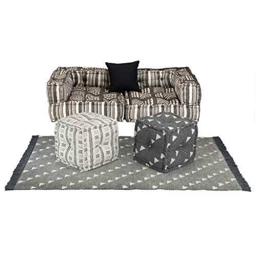 Tidyard 6 Piezas Conjunto sofá Modular Tela Rayas,Multicolor