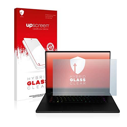 upscreen Hybrid Glass Panzerglas Schutzfolie kompatibel mit Razer Blade 15 2018 9H Panzerglas-Folie